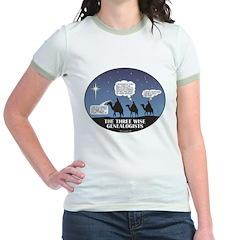 Three Wise Genealogists Jr. Ringer T-Shirt