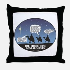 Three Wise Genealogists Throw Pillow