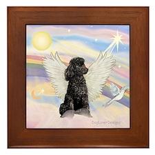 Angel/Poodle(blk Toy/Min) Framed Tile