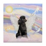 Black poodle Drink Coasters