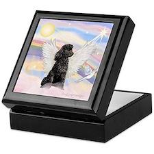 Angel/Poodle(blk Toy/Min) Keepsake Box