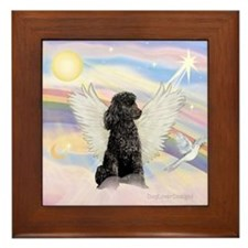 Angel/Poodle(blk Toy/Min) Framed Tile