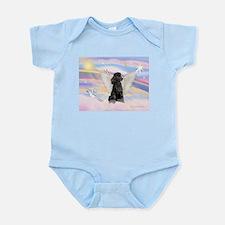 Angel/Poodle(blk Toy/Min) Infant Bodysuit