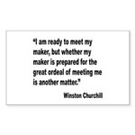 Churchill Maker Quote Rectangle Sticker