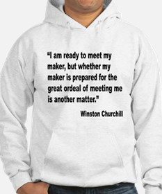 Churchill Maker Quote Hoodie