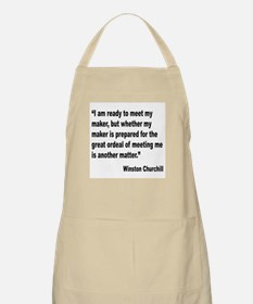 Churchill Maker Quote BBQ Apron