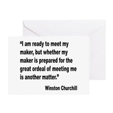 Churchill Maker Quote Greeting Card