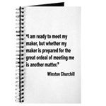 Churchill Maker Quote Journal
