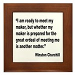 Churchill Maker Quote Framed Tile