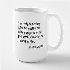 Churchill Maker Quote Large Mug