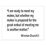 Churchill Maker Quote Small Poster