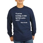 Churchill Knowledge Quote (Front) Long Sleeve Dark