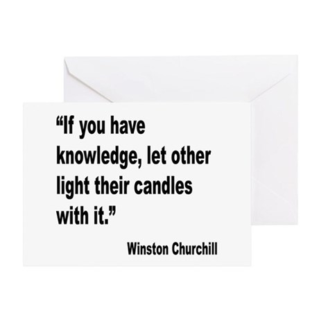 Churchill Knowledge Quote Greeting Card