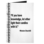 Churchill Knowledge Quote Journal
