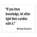 Churchill Knowledge Quote Small Poster