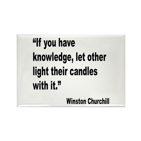 Churchill Knowledge Quote Rectangle Magnet (10 pac
