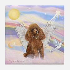Angel/Poodle (apricot Toy/Min) Tile Coaster