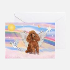 Angel/Poodle (apricot Toy/Min) Greeting Cards (Pk