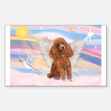 Angel/Poodle (apricot Toy/Min) Rectangle Decal