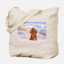 Angel/Poodle (apricot Toy/Min) Tote Bag