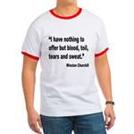 Churchill Blood Sweat Tears Quote Ringer T