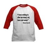 Churchill Blood Sweat Tears Quote (Front) Kids Bas
