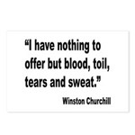 Churchill Blood Sweat Tears Quote Postcards (Packa