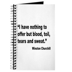 Churchill Blood Sweat Tears Quote Journal