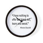 Churchill Blood Sweat Tears Quote Wall Clock