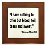 Churchill Blood Sweat Tears Quote Framed Tile