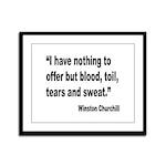 Churchill Blood Sweat Tears Quote Framed Panel Pri