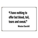 Churchill Blood Sweat Tears Quote Banner