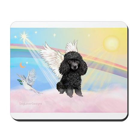 Angel /Poodle (blk Toy/Min) Mousepad