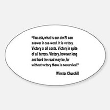 Churchill Victory Quote Oval Decal