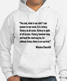 Churchill Victory Quote Hoodie
