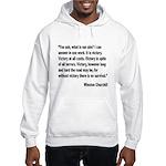 Churchill Victory Quote Hooded Sweatshirt