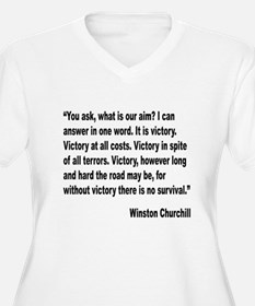 Churchill Victory Quote T-Shirt