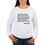 Churchill Victory Quote Women's Long Sleeve T-Shir