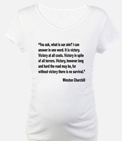 Churchill Victory Quote Shirt
