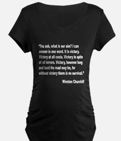 Churchill Victory Quote (Front) T-Shirt