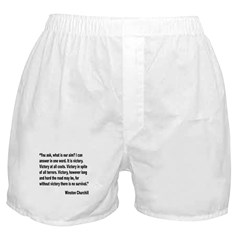 Churchill Victory Quote Boxer Shorts