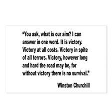 Churchill Victory Quote Postcards (Package of 8)