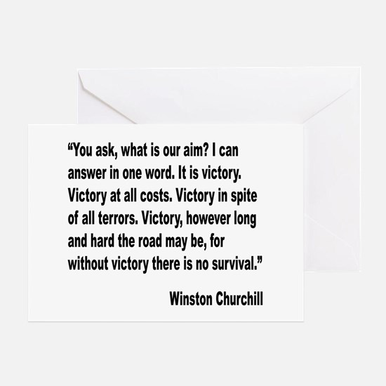 Churchill Victory Quote Greeting Card