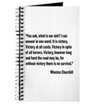 Churchill Victory Quote Journal