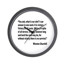 Churchill Victory Quote Wall Clock