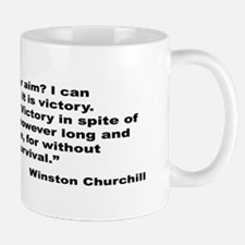 Churchill Victory Quote Mug