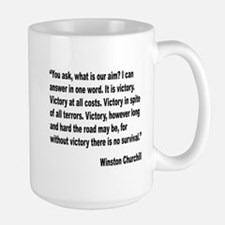 Churchill Victory Quote Large Mug