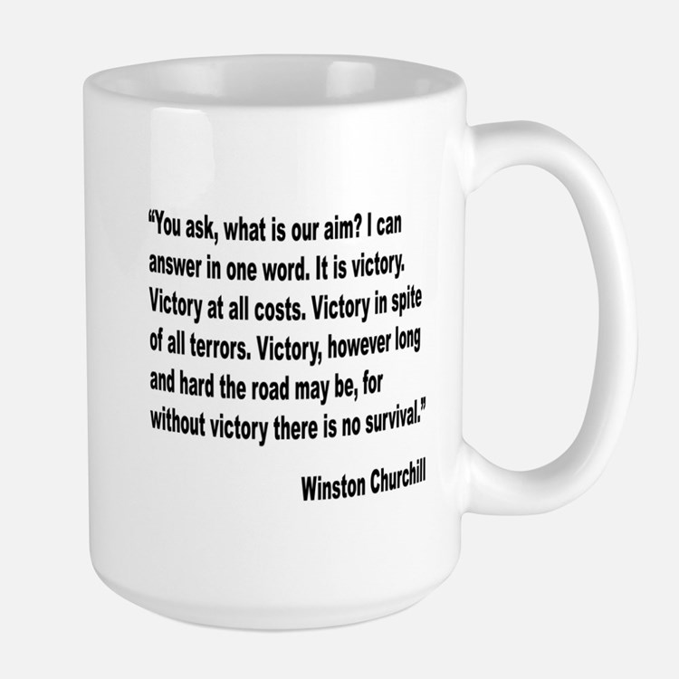Winston Churchill Victory Quote: Churchill Quotes Gifts & Merchandise