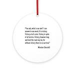 Churchill Victory Quote Ornament (Round)