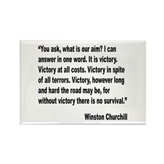 Churchill Victory Quote Rectangle Magnet